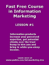 Learn the fundamentals of information marketing